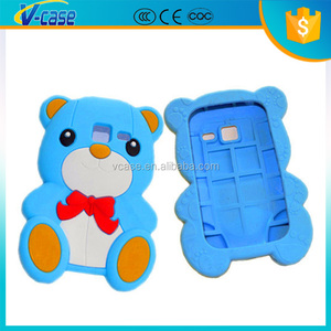 TPU Silicon Cute bear Design 3D Animal Silicone Back Cover with 10 Colors for Samsung Galaxy Y Duos S6102