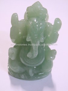 Natural Jade Gemstone Ganesha statue