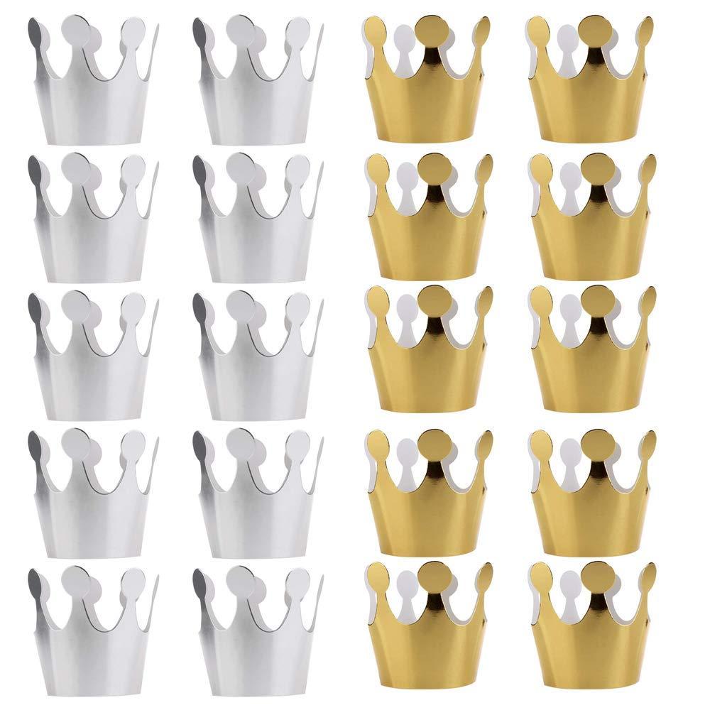 Get Quotations · 20PCS PRALB Birthday Crown Paper Hat Princess Party  Princess Party Favors for Kids 6927b724163d
