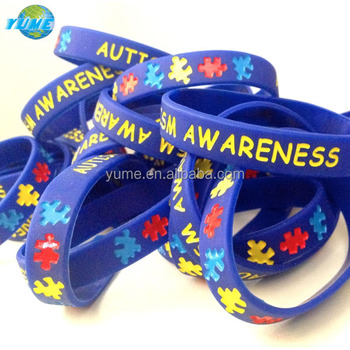 Child Youth Size Autism Awareness Silicone Wristband Bracelets