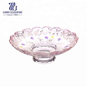 Crystal decorative glass fruit tray