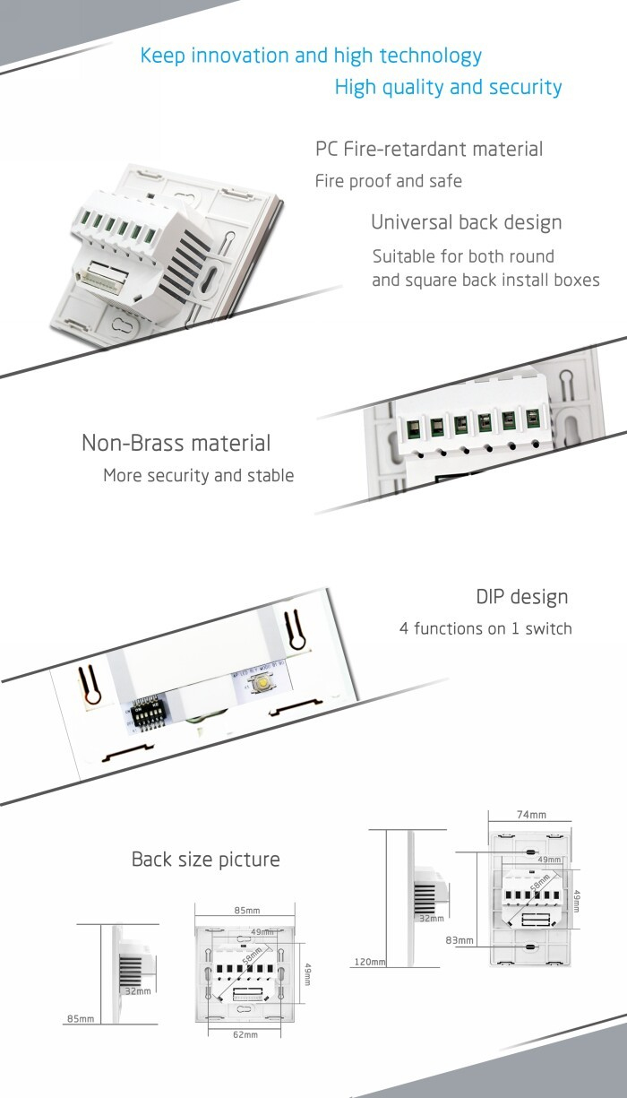Touch Switch For Lamp Lanbon Wifi Module Control 3gang Lamp Touch Switch Smart Home