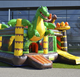 6x6x3M 0.55mm PVC 2017 new inflatables jungle dinosau combo jumpe bouncer