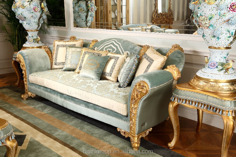 Hand carved royal furniture wooden frame 7 seater sofa set for 7 seater living room