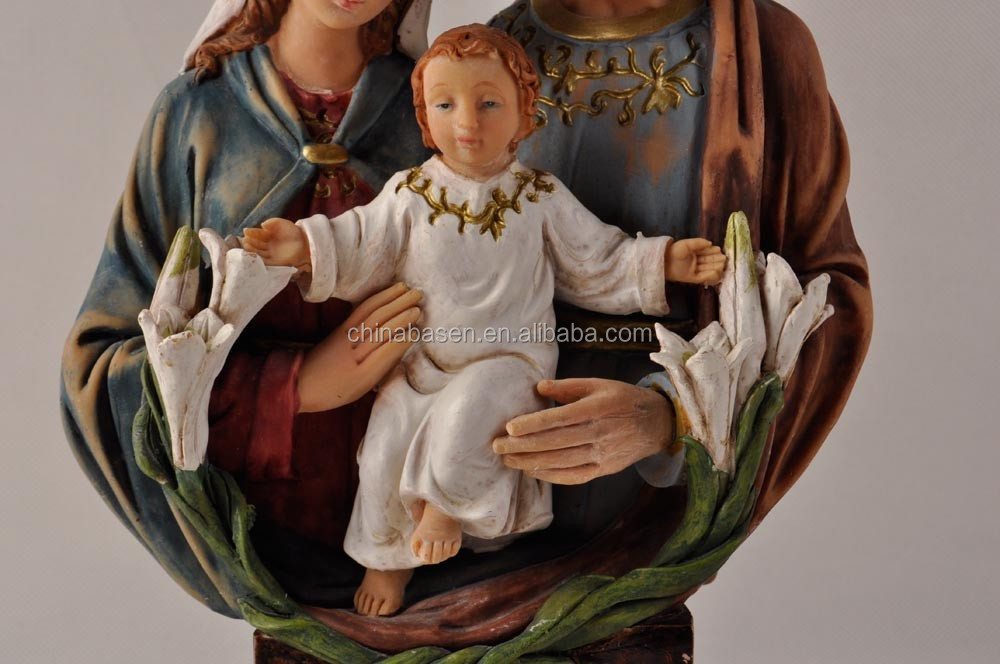 holy family statues arts in polyresin material