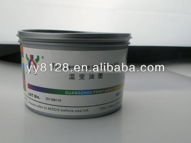 YY Anti-counterfeit Series screen printing temperature sensitive magic ink