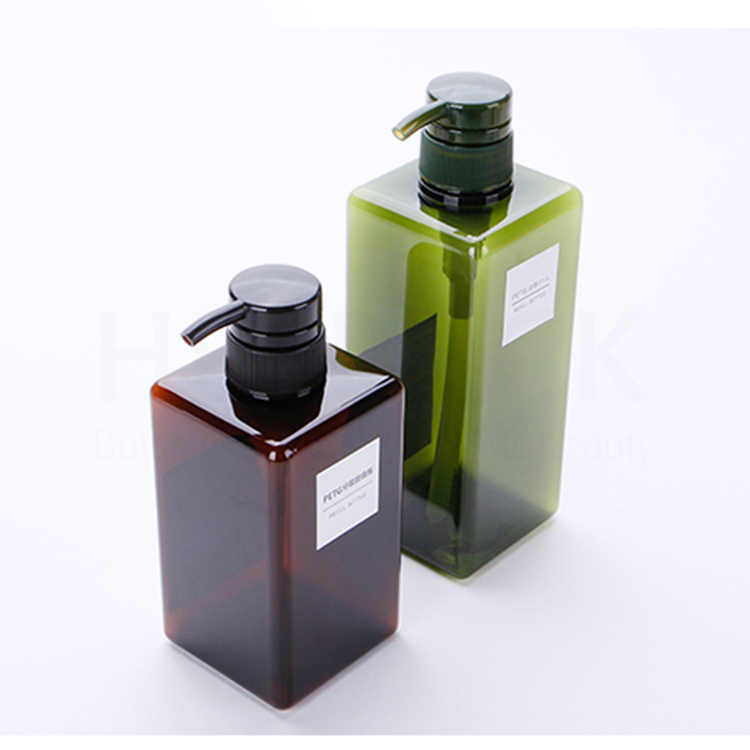 100ml 150ml 250ml 450ml 650ml square shampoo / shower gel / lotion pump <strong>bottle</strong>