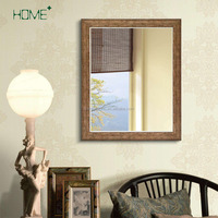 Home Plus Antique Wood Finish Wall Mirror Rustic Modern Home Decor Mirror Frame Stained Mirror