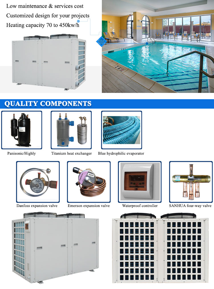 70kw/h air source swimming pool heat pump water heater