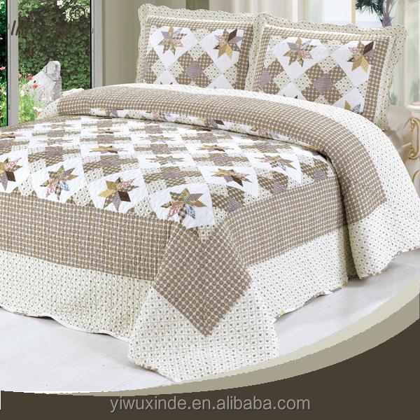 Wholesale Printed Hand Applique Bedsheet Set