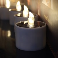 Sun rechargeable Warm-white flameless rechargeable led candles