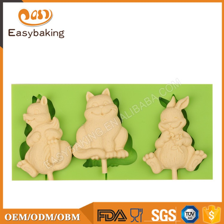 ES-0062 Animal Series Silicone Molds Fondant Mould for cake decorating