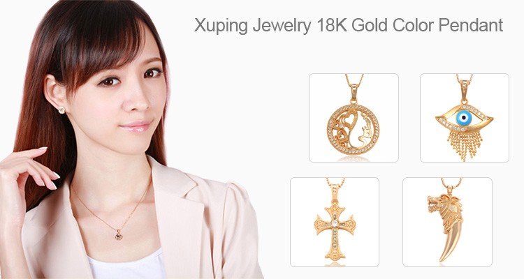 31571-Xuping Beautiful designs double fish pattern girls pendant for ladies