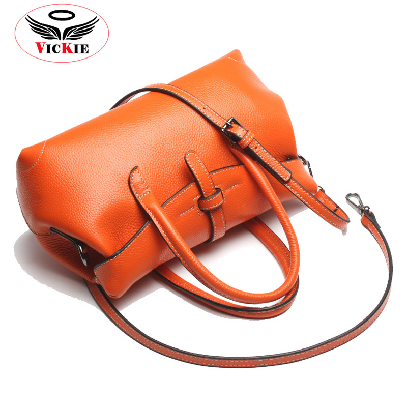 New Genuine Leather Woman Shoulder Bag Imported Brand Cowhide Lady Handbag Boston Women Messenger Bags Noble Star Totes Sac HS20