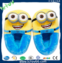 2015 popular despicable toy soft kid slipper