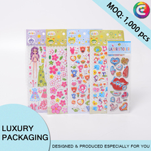 children cartoon 3d foam puffy girl sticker