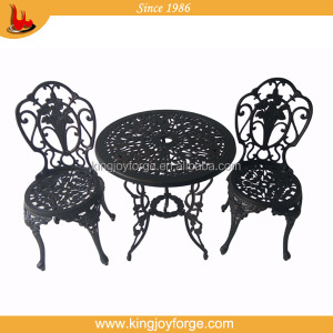 USA hot selling promotion antique bronze cast aluminum 3 Piece Bistro Set