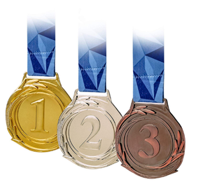 Award Medals, Gold Silver Bronze , Premium Metal and Ribbon, Prize for Classrooms, Office Games, or any Event