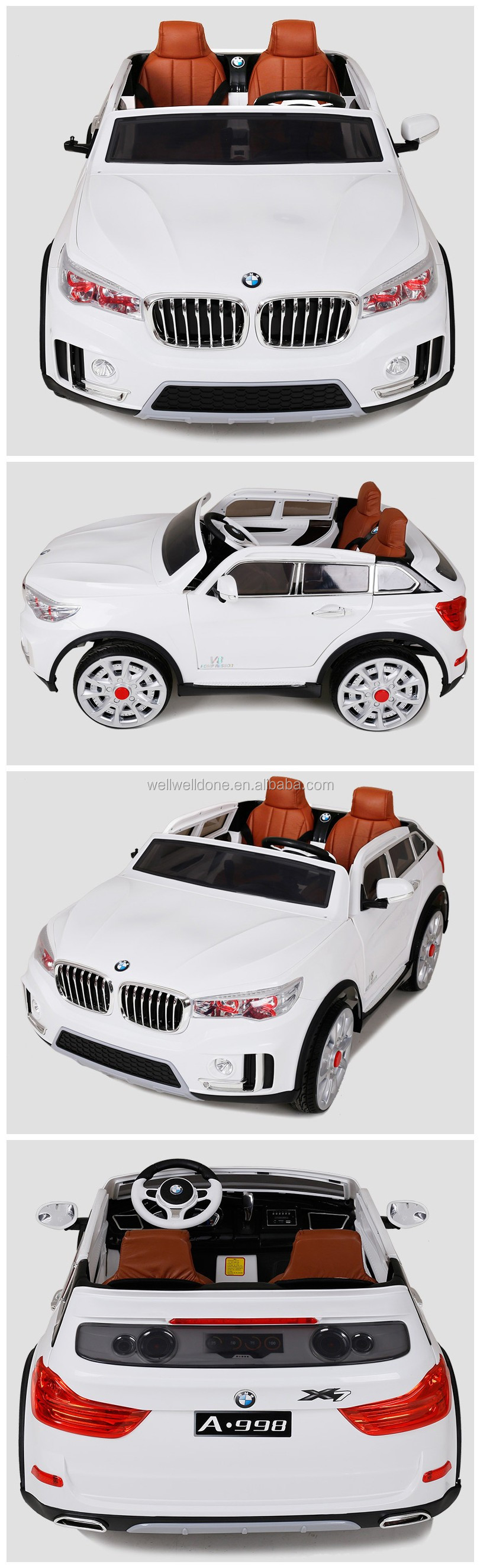 Hot selling big baby car, with 2.4G r/c, music and light, soft leather seat kids car, popular present WDA998