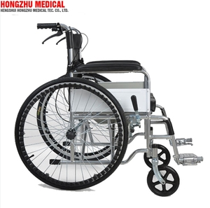 Multifunctional Transport Commode Wheel Chair Manual Wheelchair with Footrest