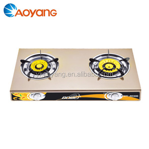 China Lpg burner 2 burners gas stove with Iron wood BW-2046