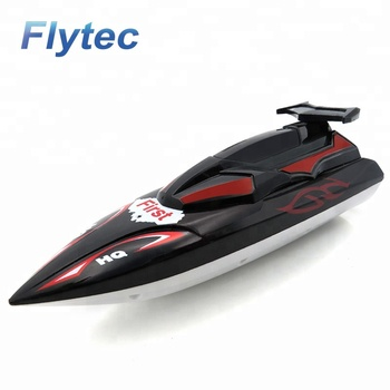 Flytec 2011 - 15C Infrared Remote Control RC Boat Summer Water Plastic Mini Boats Toys with Controller For Kids RTR ( Black )