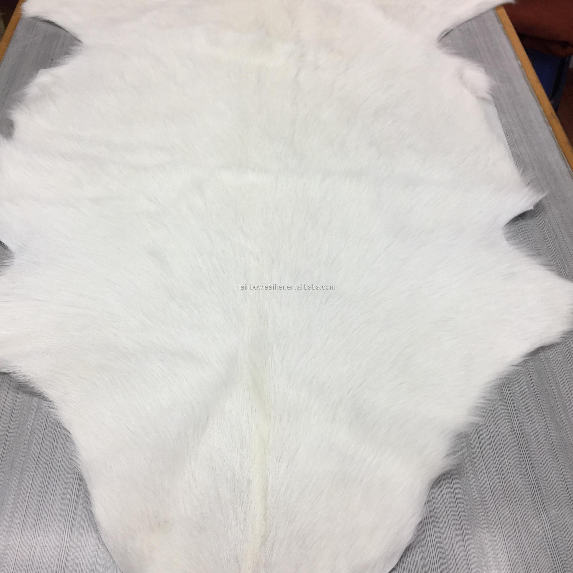Top quality factory direct natural new tanned processed goat fur skin