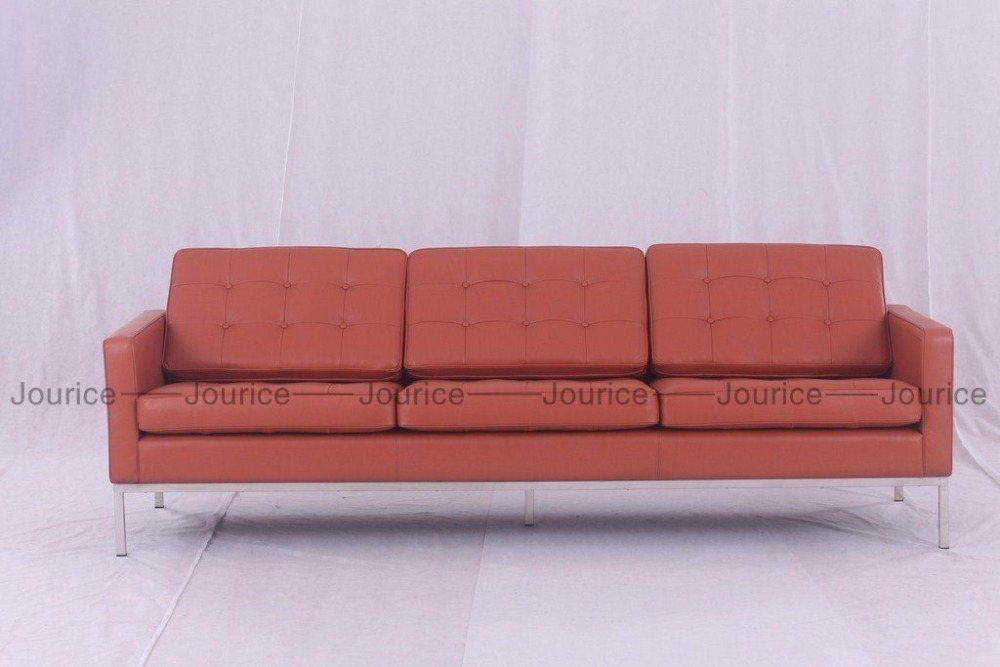 Florence knoll 3 seat sofa Genuine Leather