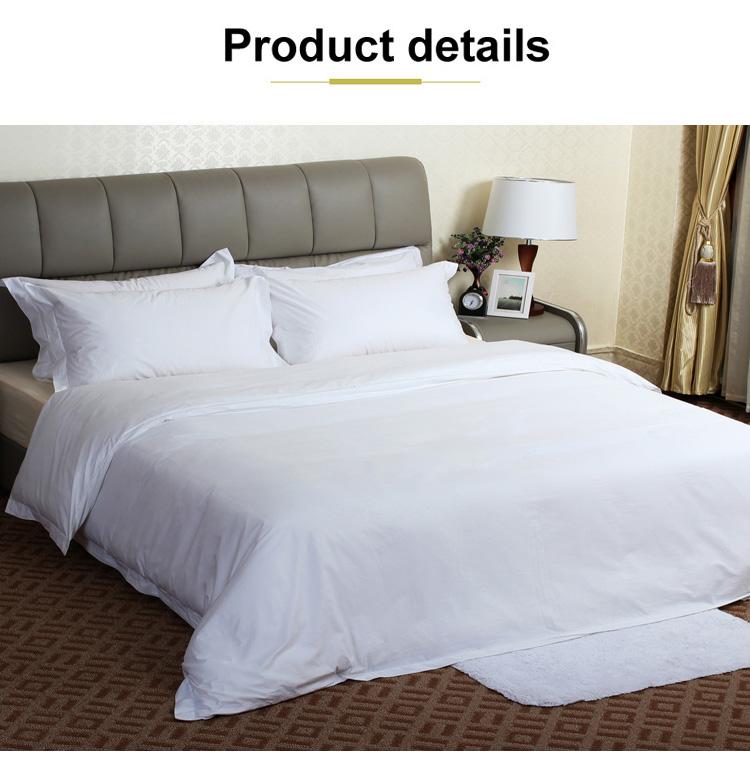Benutzerdefinierte Luxus Schlicht Weiß 300t Baumwolle Bettlaken