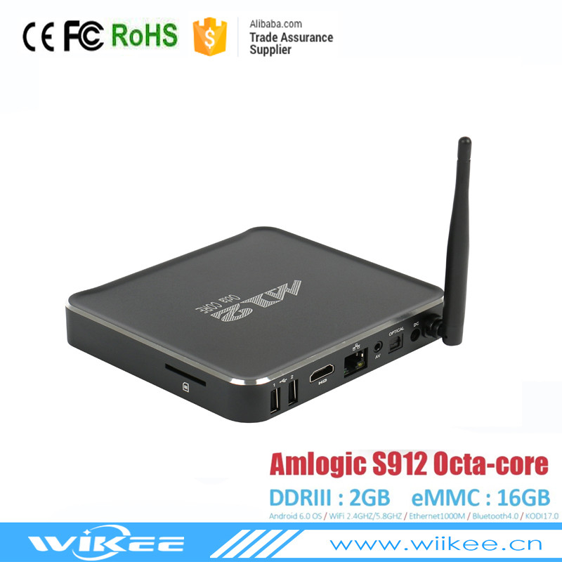 OEM Available Private Model M12 s912 octa core 2+16g dvb s2 kodi 17.0 iptv <strong>set</strong> <strong>top</strong> <strong>box</strong>