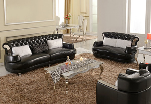 Luxury fancy best selling french leather sectional sofa set S077