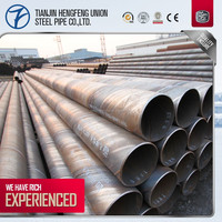 SSAW/ SAW large diameter spiral steel pipe for natural gas and oil pipeline