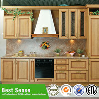 American cherry wood kitchen cabinets antique style