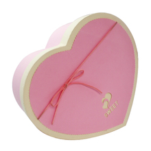 Custom Colorful Art Paper Handmade Heart Shape Chocolate Packaging Box