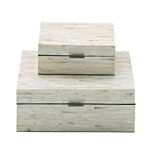 Benzara 41127 Enticing Boxes44; Mop Lacquer44; Set of 2