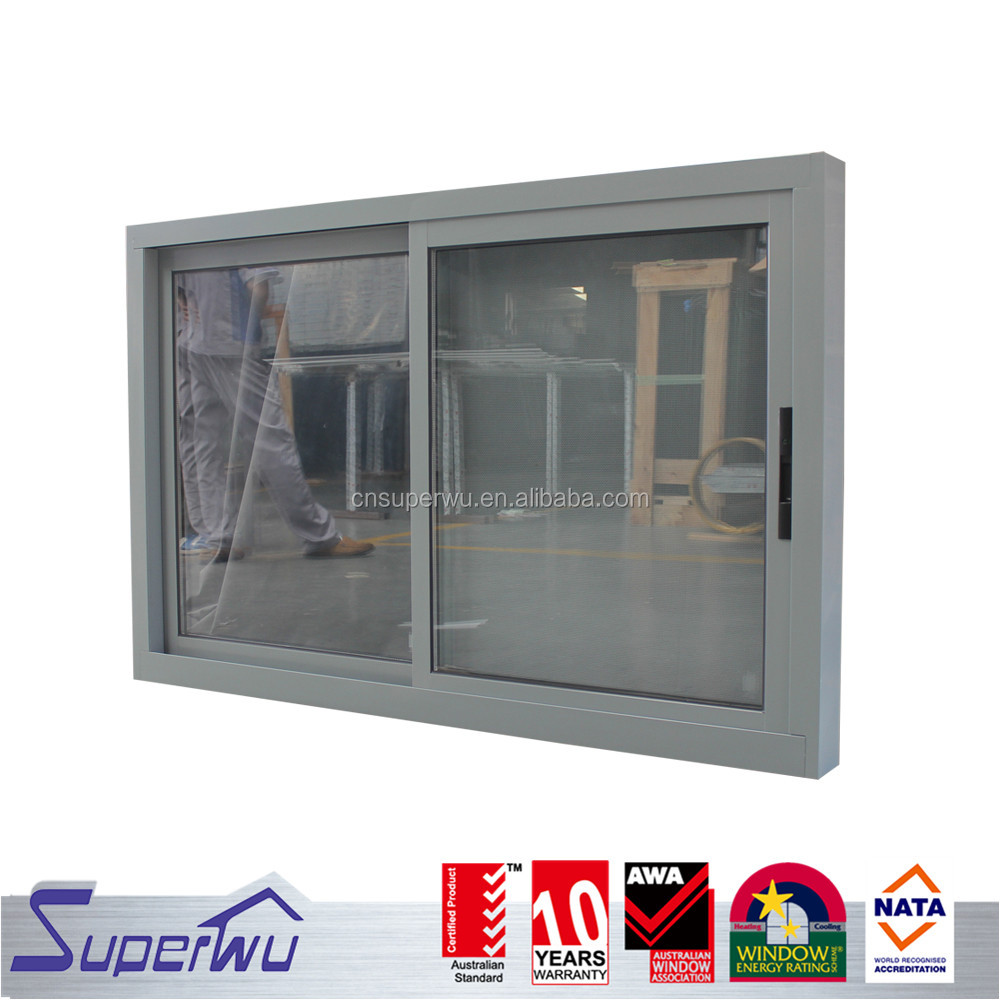 sliding aluminium double glazed windows with ss securtity mesh with german brands