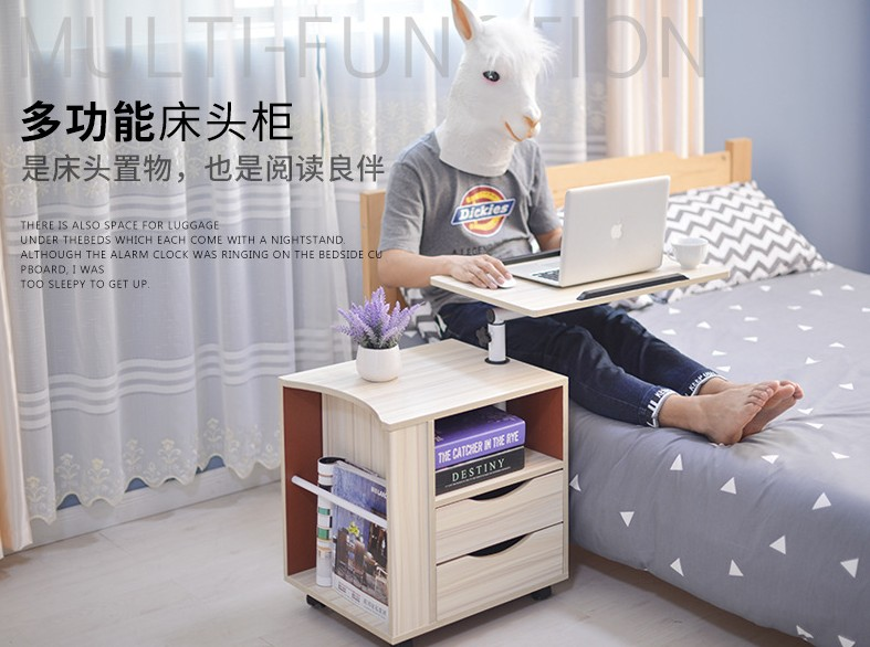 Adjustable Rolling Over Bed Laptop Desk Table For Bed/Couch