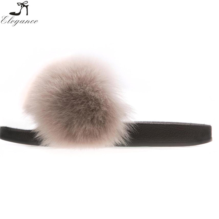 Slippers Sandals Customized Smooth Shoes Cheap Women Online Slides Luxury Big Plush Fluff Fur qwXn0t8