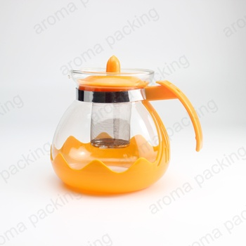 Wholesale High Quality 1500ml Coffee Tea Sets Glass Teapot with stainless steel infuser and plastic handle