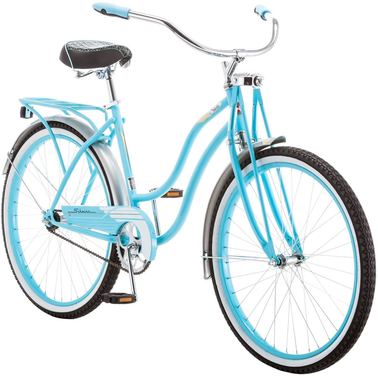 121098eda48 Get Quotations · Schwinn Women's Sheba Cruiser Bike, Light Blue, 16
