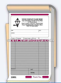 Part A Invoice Book Printing With Sequential Numbering Buy - 3 part invoice book