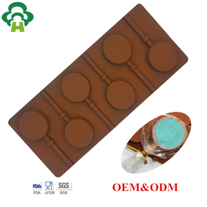 Specialized mold design customization food grade customized silicone chocolate tool hard candy lollipop mold