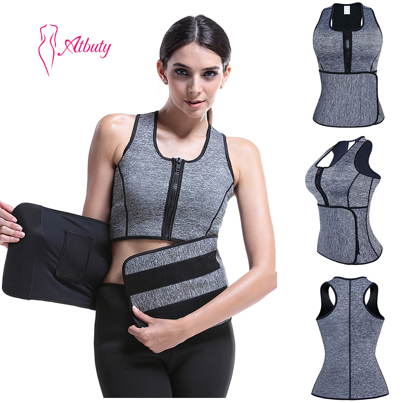 Women Neoprene Sauna Sweat Body Shaping Slimming Corset Shaper As Seen On Tv