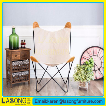 Customized New Design White Fabric Bkf Butterfly Chair