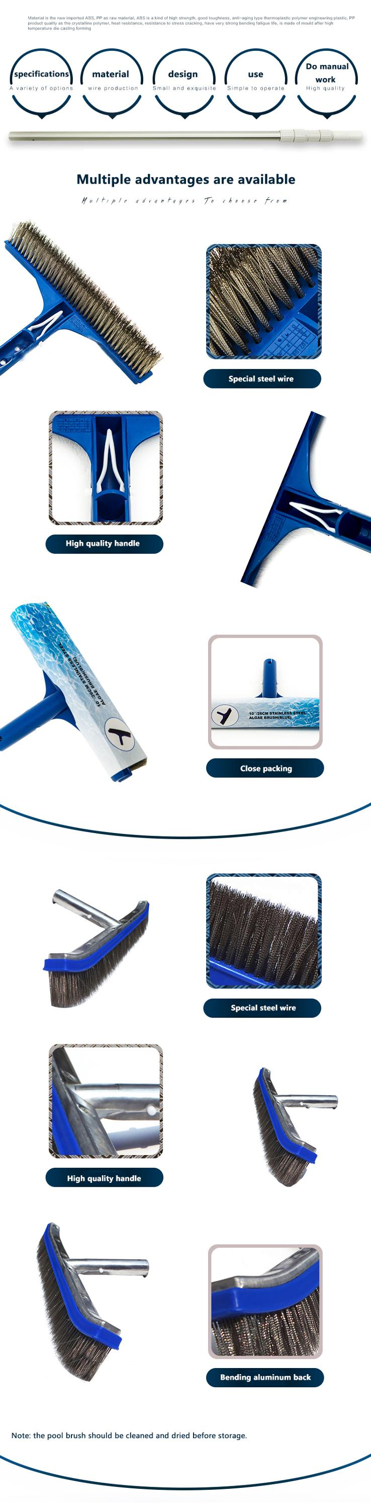 Extenclean Swimming Pool Brush/steel Wire Brush 2019 Hot Sale Swimming Pool  Telescopic Pole Cleaning Brush Without Pole - Buy Swimming Pool