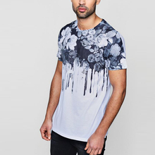 Mens Fashion Kleidung Streetwear Nach Floral Muster Gedruckt <span class=keywords><strong>Farbe</strong></span> Tie Dye t shirts