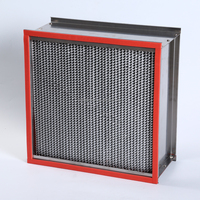 H13 H14 High temperature resistance deep-pleated hepa air filter box filter