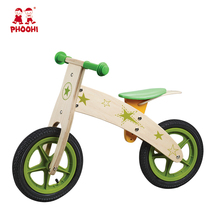 Kids outdoor play toy star green best wooden children balance bike for 3+