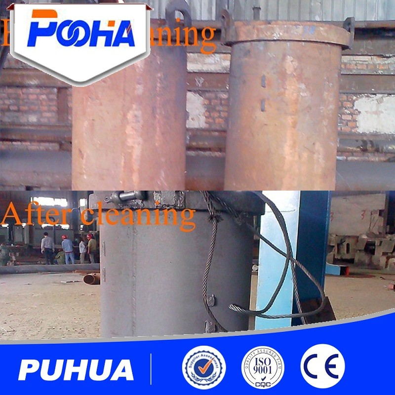 Q69 shot blasting machine with roller conveyor for steel plate,profiles and section
