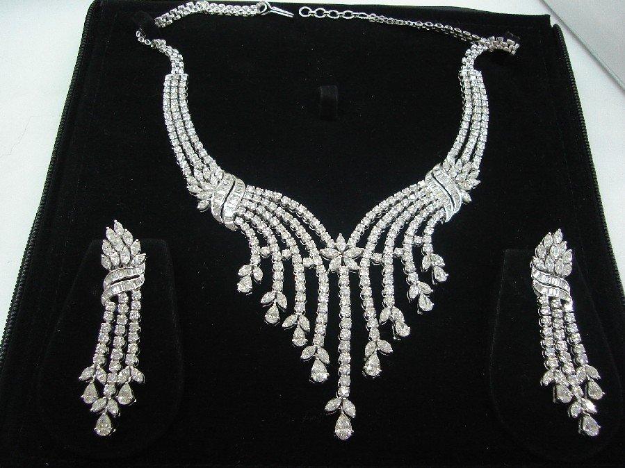 Diamond Necklace Set Bridal Jewellery Diamond Jewellery Buy Diamond Jewellery Necklace Set Bridal Set Product On Alibaba Com